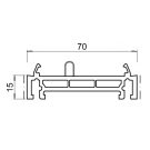 Rehausse / elargisseur kommerling de 15 mm BLANC