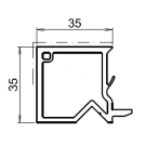 Tapée d'isolation pour fenetre blanche +35mm